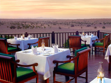 Al Diwaan restaurant, Al Maha Desert Resort in the Dubai Desert Conservation Reserve, Dubai