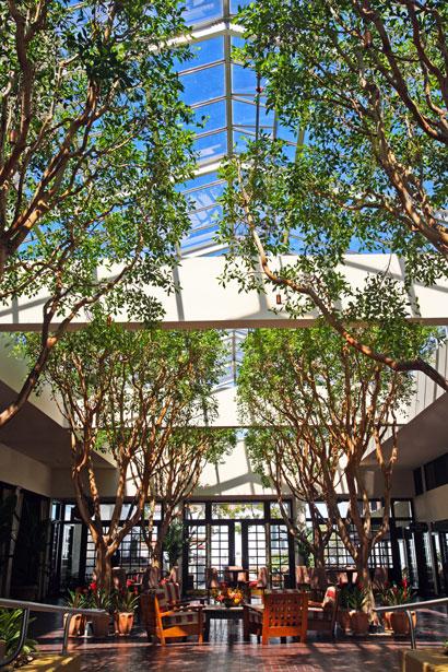 Lobby, Portola Hotel & Spa in Monterey, Calif., USA