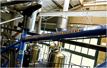 Company bike, Standing Stone Brewing Company in Ashland, Ore., USA