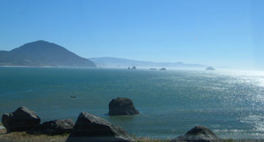 Port Orford Bay in Port Orford, Ore., USA