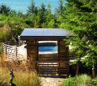 Spa, WildSpring Guest Habitat in Port Orford, Ore., USA