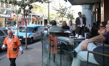 Busy Hamra street in Beirut, Lebanon