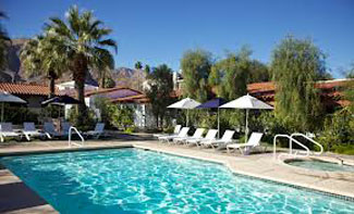 Pool, Alcazar in Palm Springs, Calif., USA