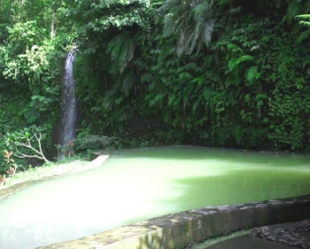 Angseri Hot Springs in Bali, Indonesia