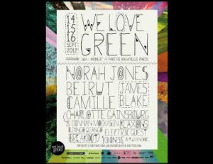 Poster for 2012 We Love Green Fest in Paris, France