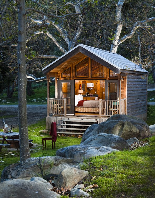 Creekside Queen cabin, El Capitan Canyon in Santa Barbara, Calif., USA