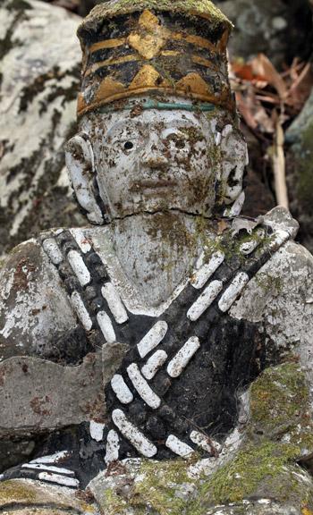 Stone figure near OMunity in Sudaji, Bali, Indonesia
