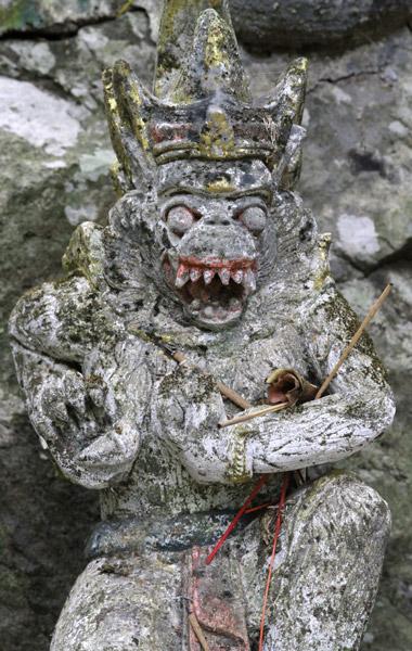 Scary diety  near Sudaji, Bali, Indonesia
