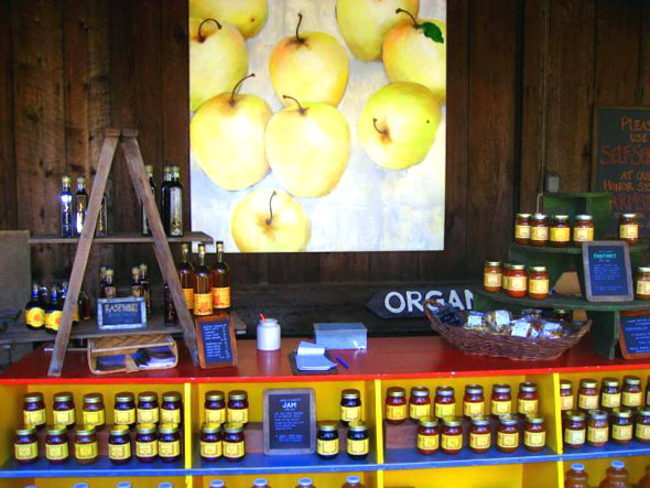 Farmstand, The Apple Farm in the Anderson Valley, America's greenest wine country