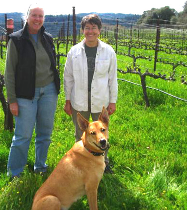 Deborah Schatzlein & Cindy Paulson of Bink Wines in Anderson Valley, America's greenest wine country