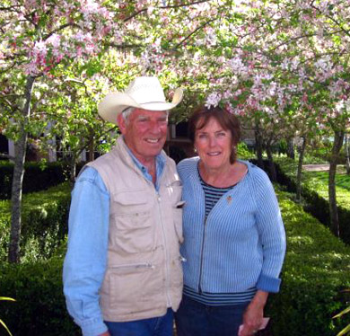 Kit & George Lee of Old Chatham Ranch in the Anderson Valley, America's greenest wine country
