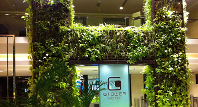 Sleeping around in eco-luxe Kuala Lumpur - G Tower Hotel living walls