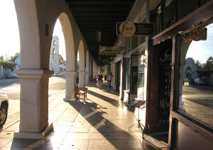 Ojai Village Center Arcade - Ojai, Calif., USA