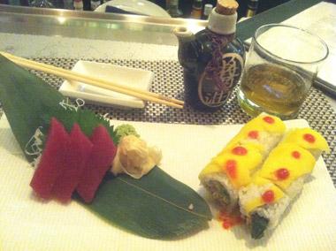 Sushi and sashimi at rm Seafood-Las Vegas, Nev., USA