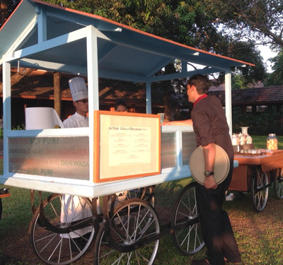 Chaat wagon at Alila Diwa - Goa, India