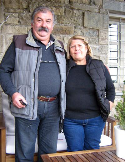 Dimitris & Anthula Exarchou, owners of Mikro Papigo 1700 Hotel & Spa - Mikro Papigo, Zagori region of the Pindus Mountains, Greece