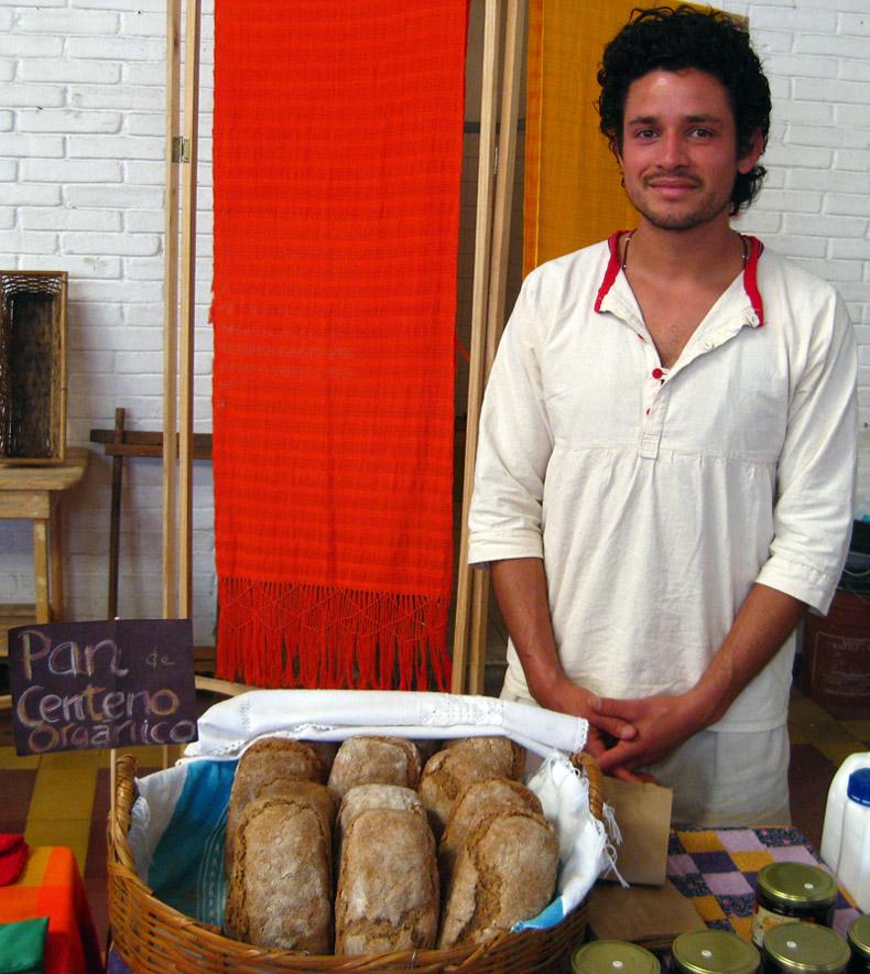 Baker at the organic market - Coatepec, Veracruz, Mexico