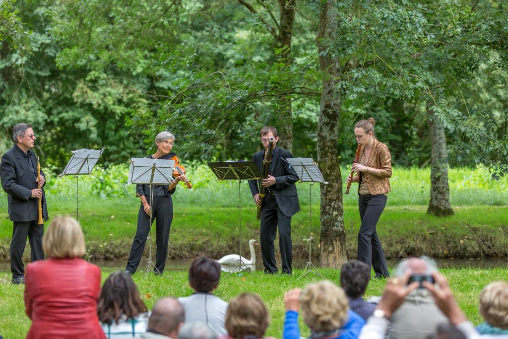 Musicians, Dans les Jardins de William Christie festival - Thiré, France
