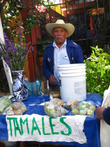 Tomales vendor at Mercadito Rural, Via Organica- San Miguel de Allende, Mexico