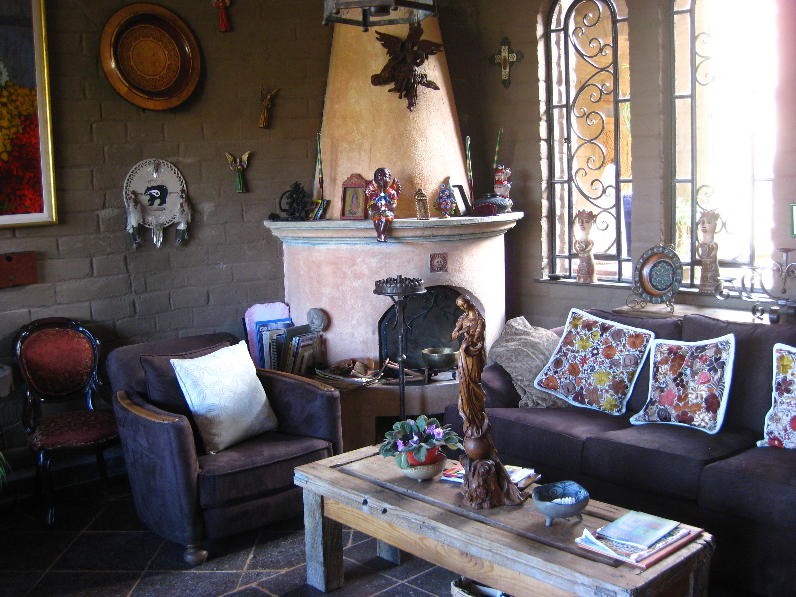 Livingroom at Hotel Boutique Casa Angelitos - San Miguel de Allende, Mexico