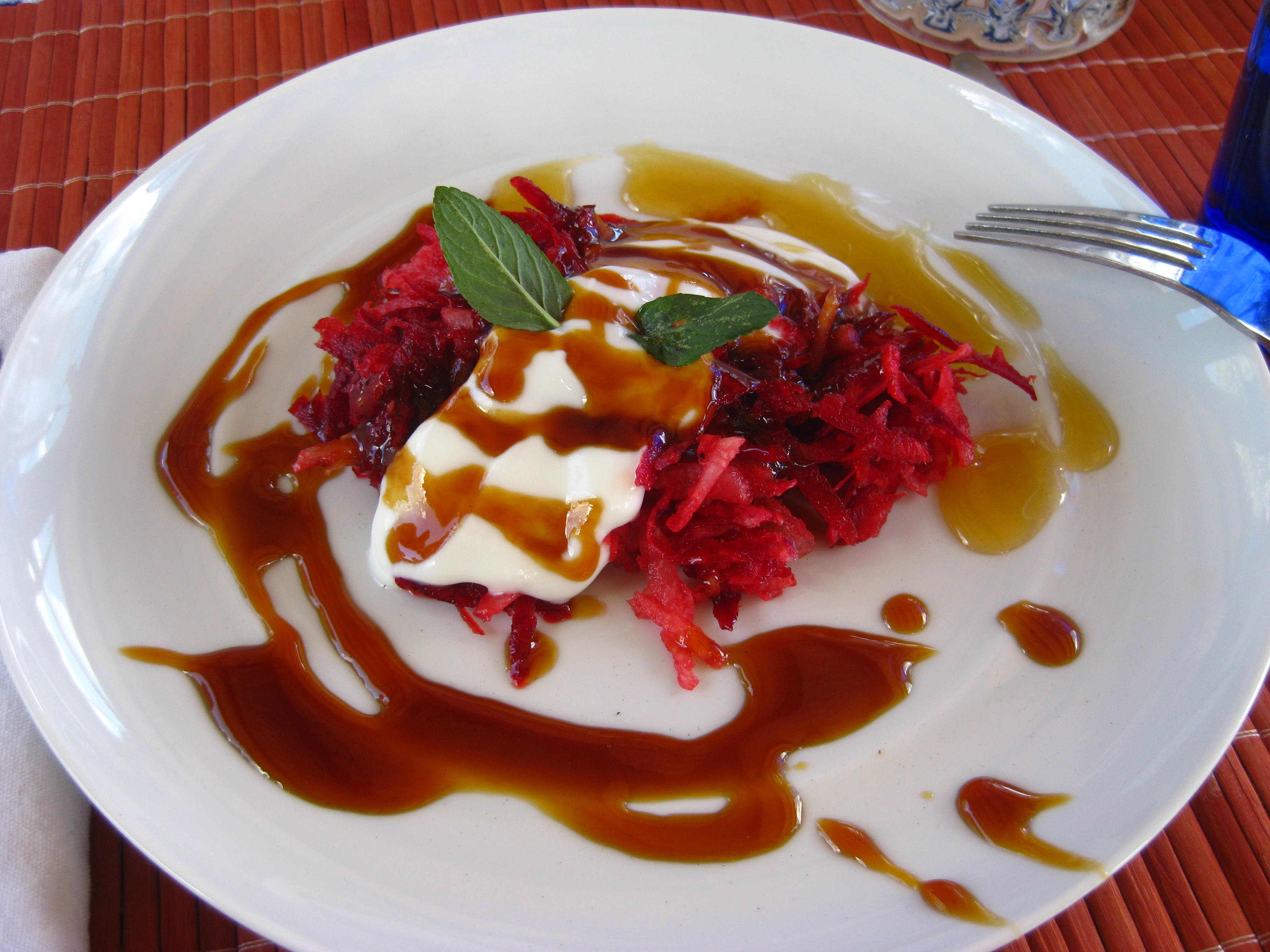 Beetroot dessert after Via Organica trail ride - San Miguel de Allende, Mexico
