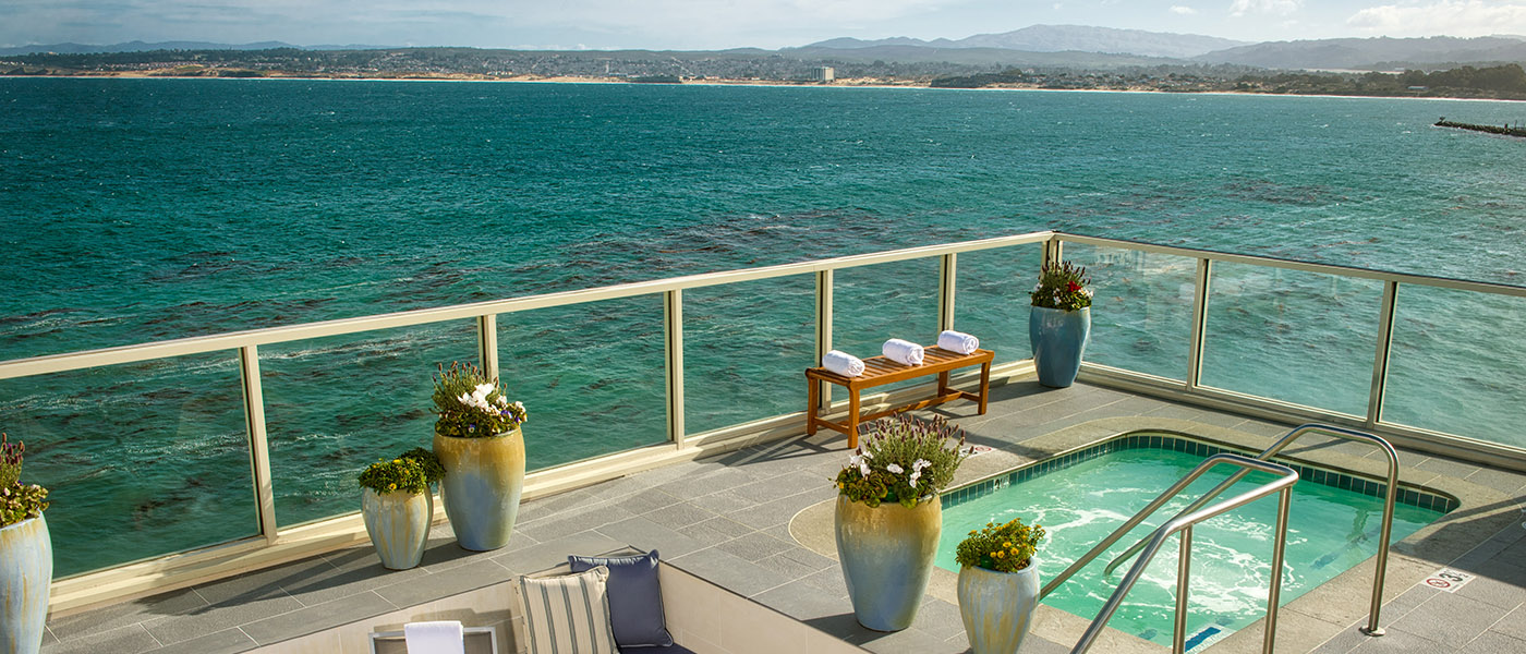 Spa deck, Monterey Plaza Hotel and Spa - Monterey, Calif., USA