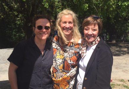 Traci des Jardins, Joy Sterling, Karen Ross at Iron Horse Vineyard - Green Valley, Calif.