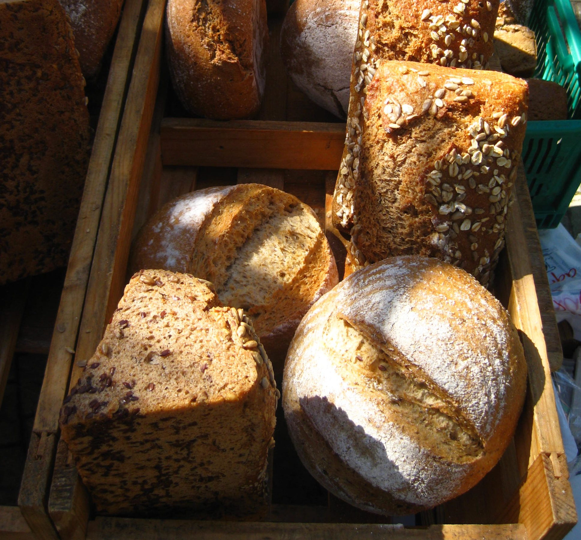Organic bread at farmers market - Andulasia, Spain